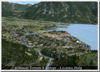 Locarno in Italy seen in Ultimate Terrain quality