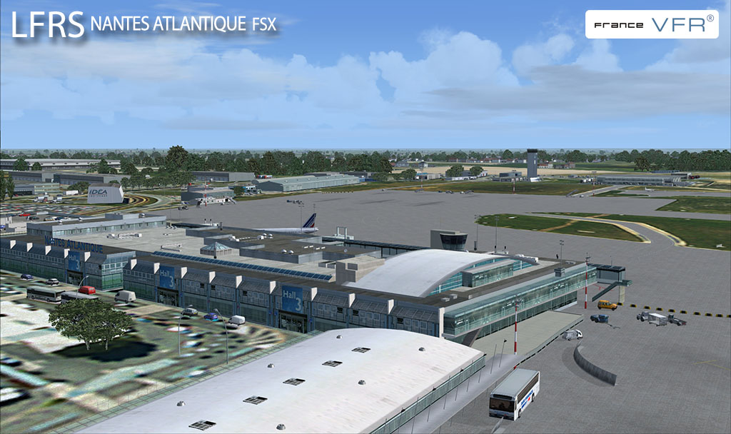nantes regional airport from francevfr france vfr continues their series of regional airports. Black Bedroom Furniture Sets. Home Design Ideas