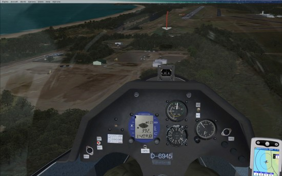 VC showing yaw string, GPS on Final