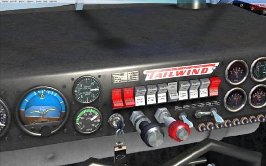 PIC 11 W8 close-up of the throttle and mixture controls and basic gauges