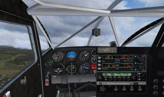 Pic 7 The W10 VC showing the basic instruments with avionics popup