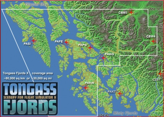 Figure 3 Overview Map of Tongass FSX
