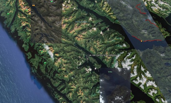 Figure 4 Lake Moser from Google Earth