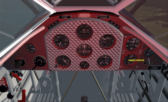 Figure 8 The Renegade showing smoke switch (Right) and cockpit lights2