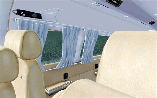 Figure 28 Interior showinf curtains and club seats