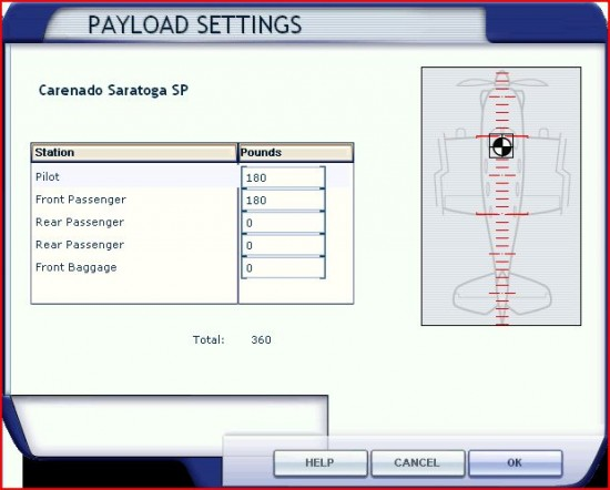figure 22 PAYLOAD Screen