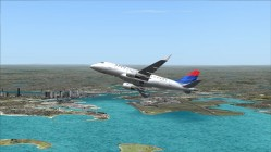 FS2004-Looking north towards Logan airport and Boston area