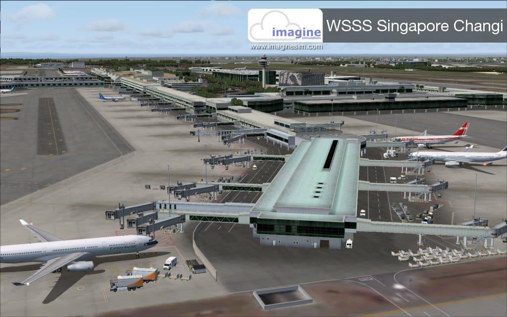 Imagine Simulation Changi Airport International WSSS FSX - Ariel