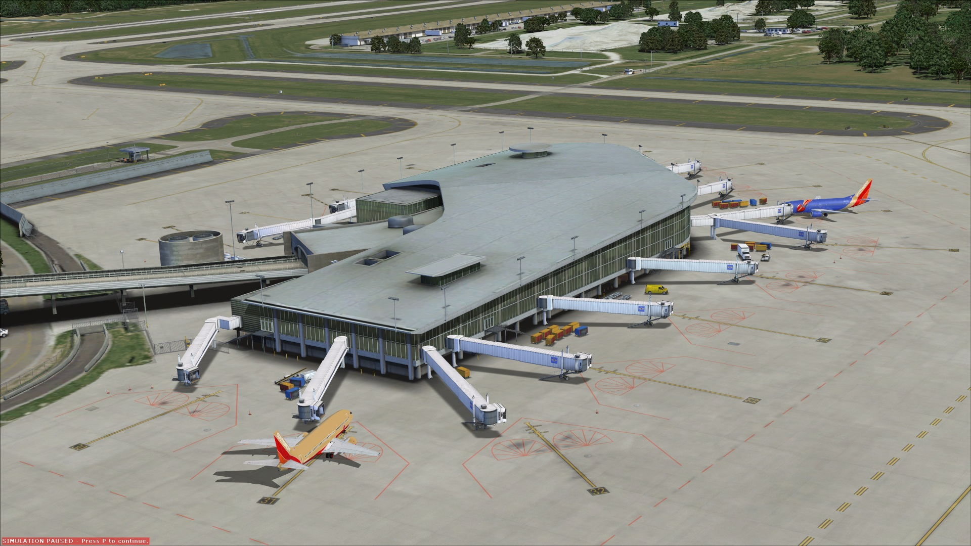 Canopy Airport Parking >> Review FlyTampa - rebooted v2 for FSX | Tampa International airport, KTPA, is located just west ...