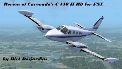Review – Carenado C340 II FSX HD series