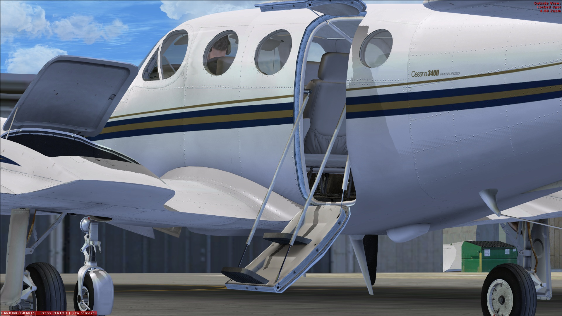 how to open plane door fsx