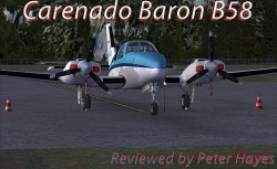 Review: CARENADO – B58 BARON FSX (using AREZONE sound pack)