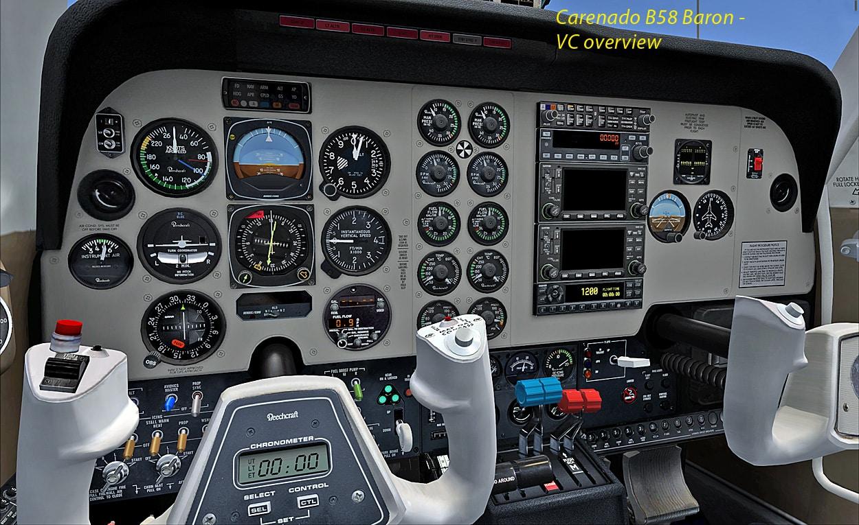 Review: CARENADO – B58 BARON FSX (using AREZONE sound pack)