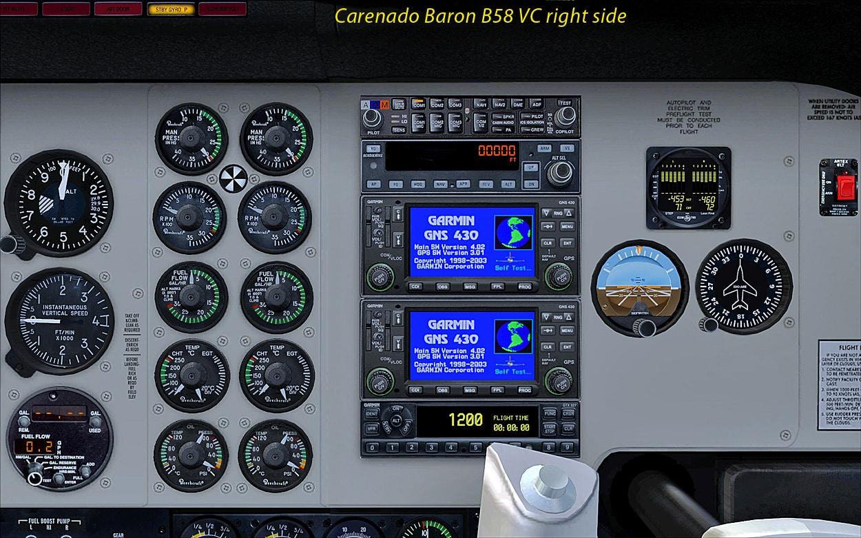 Review  CARENADO     B58 BARON FSX  using AREZONE sound pack