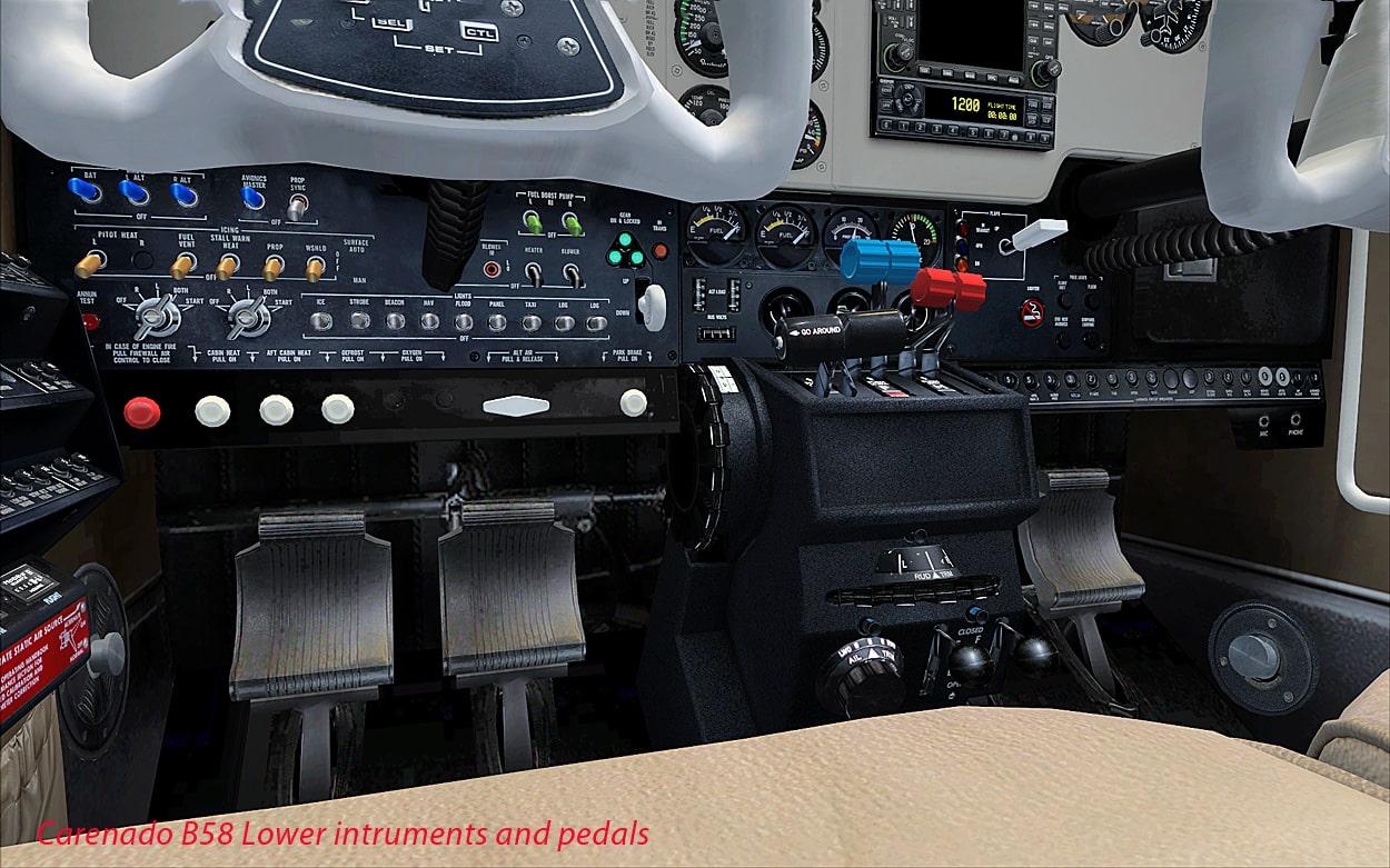 Review  Carenado  U2013 B58 Baron Fsx  Using Arezone Sound Pack