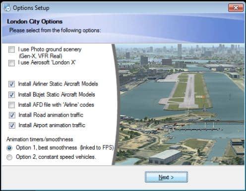 UK2000 – London City Xtreme EGLC for FSX