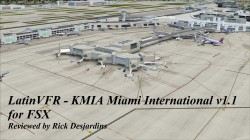 Review of LatinVFR KMIA Miami International Airport v1.1 for FSX
