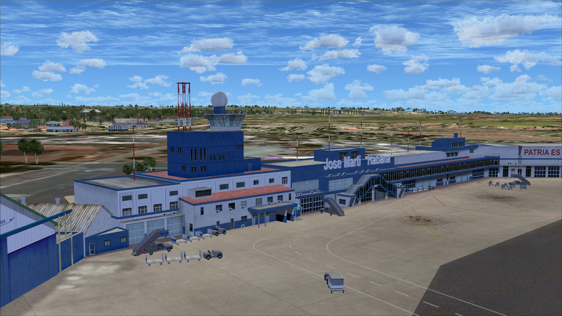 Aeroporto Jose Marti : Review of taxi gate la habana cuba muha fsx josé