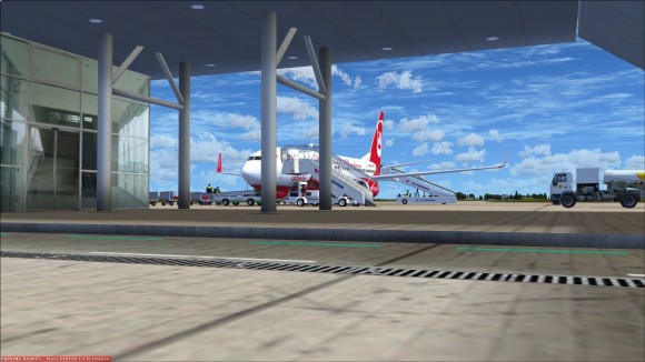 Looking out to the main apron