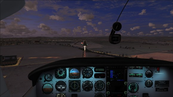 Night time arrival to runway 31