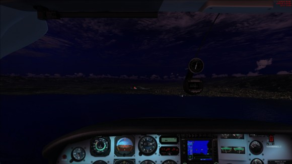 Night time approach to runway 10