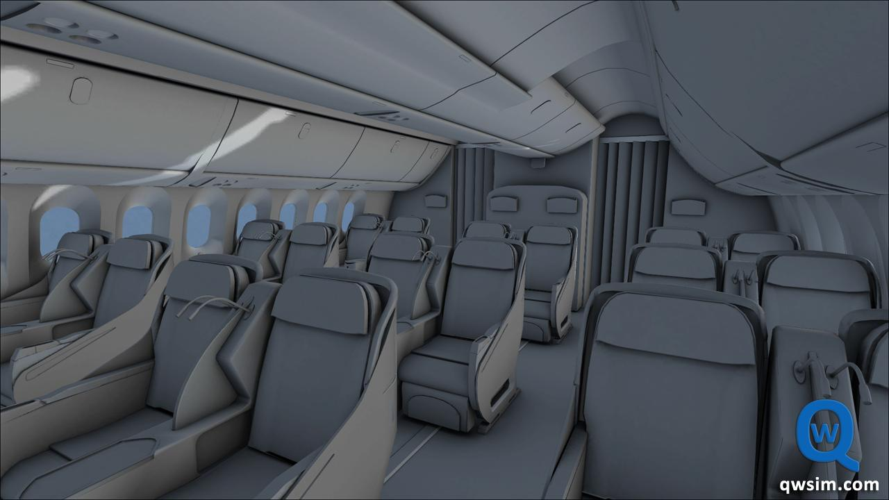 Qualitywings 787 first class cabin the story doesn 39 t let for Interieur 737