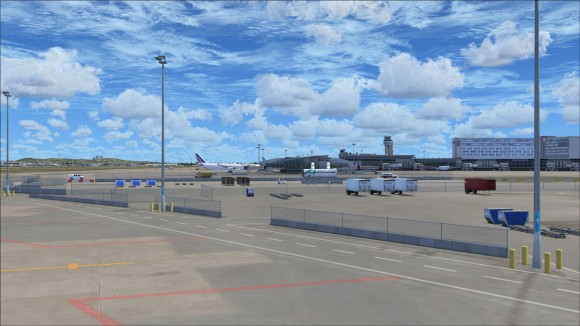 Apron view showing off different types of objects