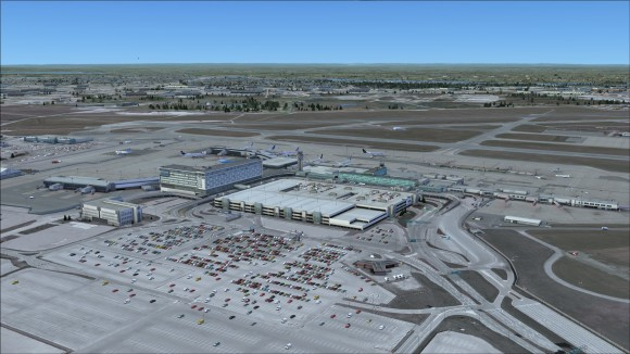 Looking north over terminal complex