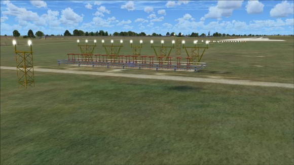 Runway 20 approach lights and localizer
