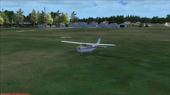 Getting ready to take off from a small grass strip