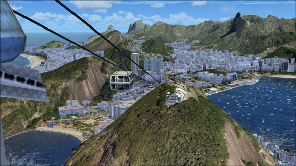 Close up of cable cars