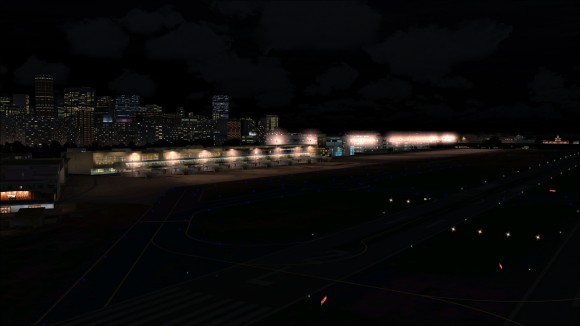 Santo Dumont Airport all lit up
