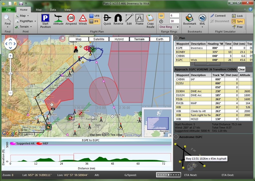 Ta Software Plan G Free Flight Planner V3 0 Simflight