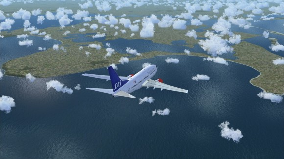 Coastline view approaching from the north with FSX