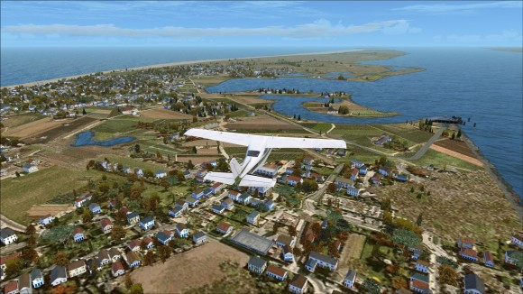 Flying westward over Norderney in FSX