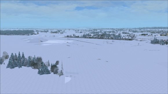 Snow textures at low altitude