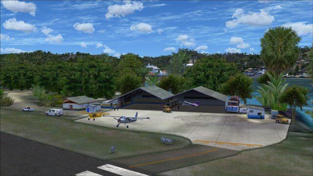 Buildings south of runway 09