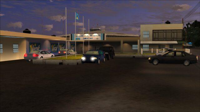 Detailed terminal entrance area arrivals side
