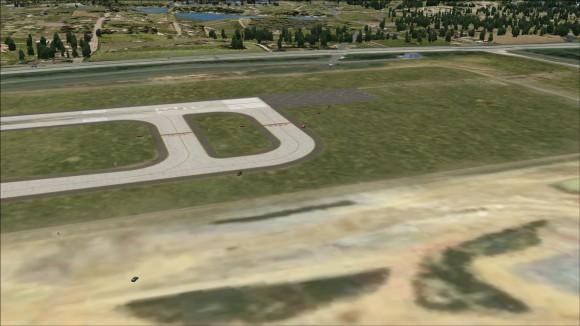 FSX road traffic crossing new runway