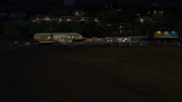 Fuel farm at night