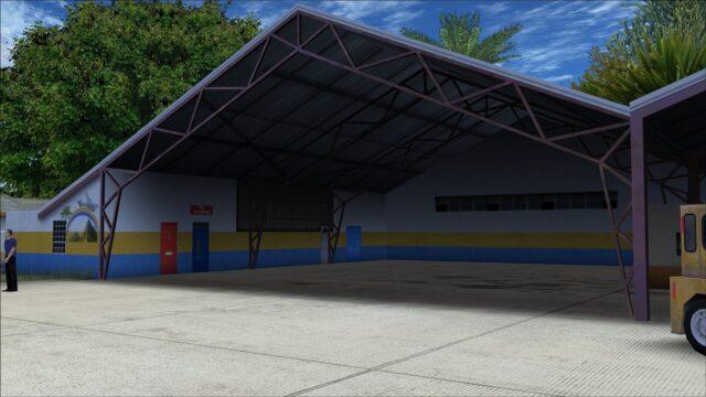 Hangar interior detailing