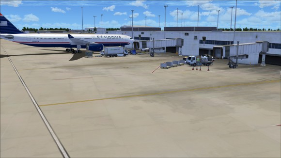 Image highlighting ground textures and apron clutter for realistic look