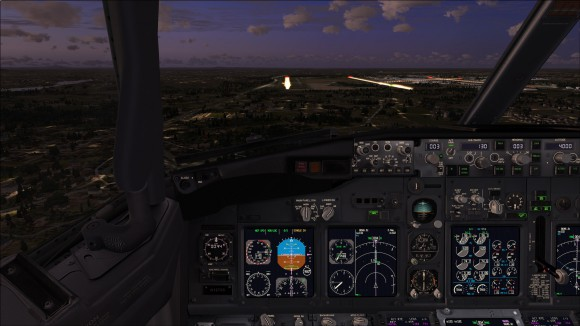 Night time arrival to runway 36L