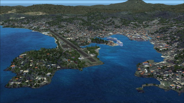 Point Seraphine, Sansouci and Castries city
