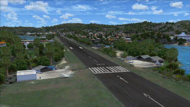 Runway 09 aprons