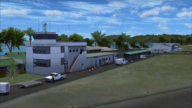 Terminal building and control tower