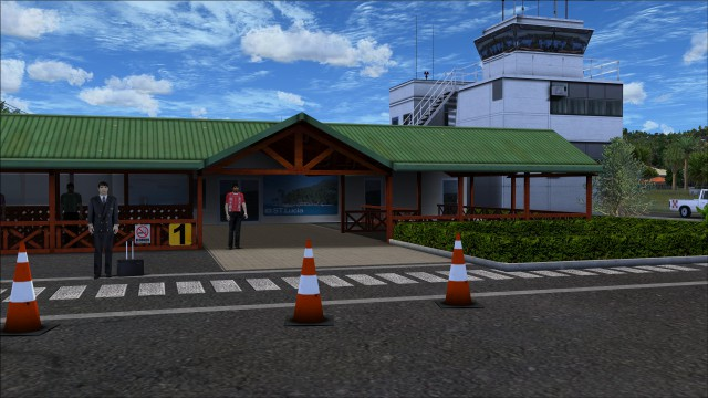 Very nicely detailed terminal area apron side