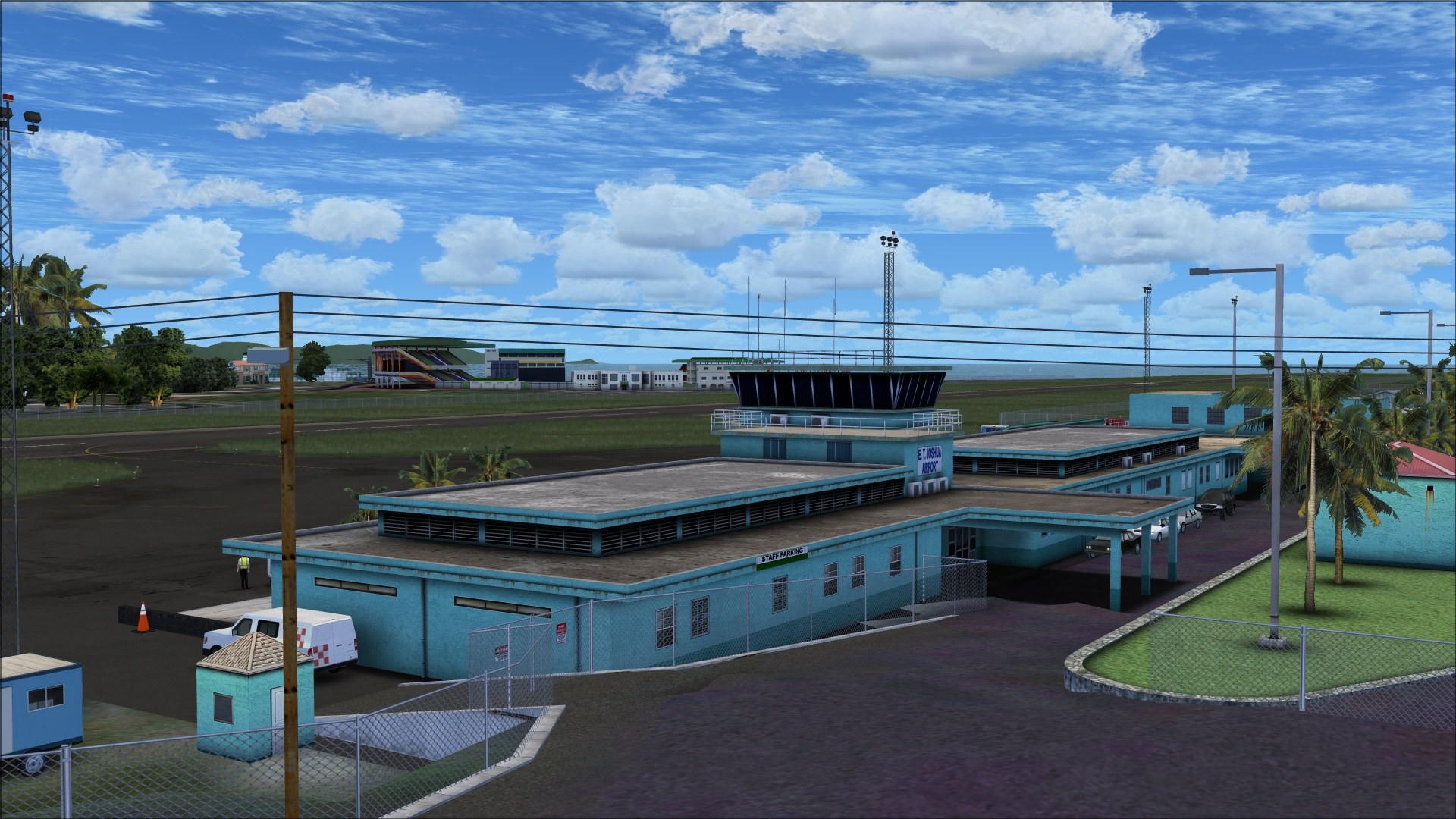 review of taxi2gate � et joshua airport saint vincent fsx