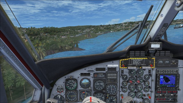 Arriving at Saint Vincent via runway 07