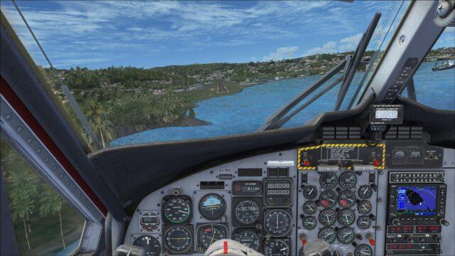 Arriving at Saint Vincent via runway 07